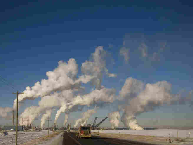 A truck drives along highway A63 from the Syncrude Canada Ltd refinery in Fort McMurry, Alberta, Canada. The Keystone pipeline would help our friendly  northern neighbor expand development in one of the largest, but  dirtiest, sources of oil on the planet.
