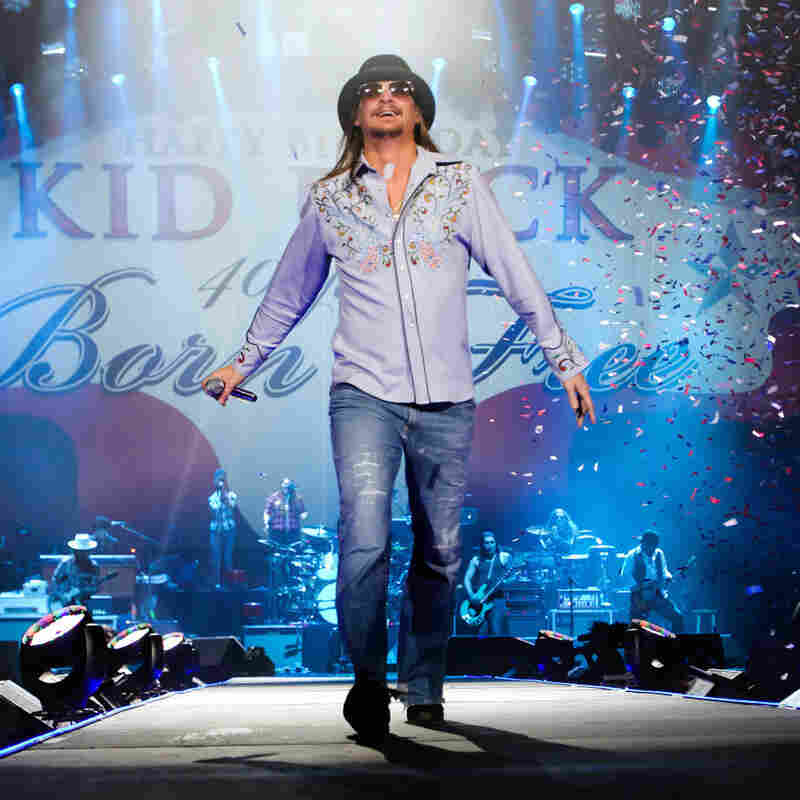 If the president's speaking between 7:30 p.m. and 8:30 p.m. ET, he'll still be up against Kid Rock and the other performers on the NFL's big pregame show.
