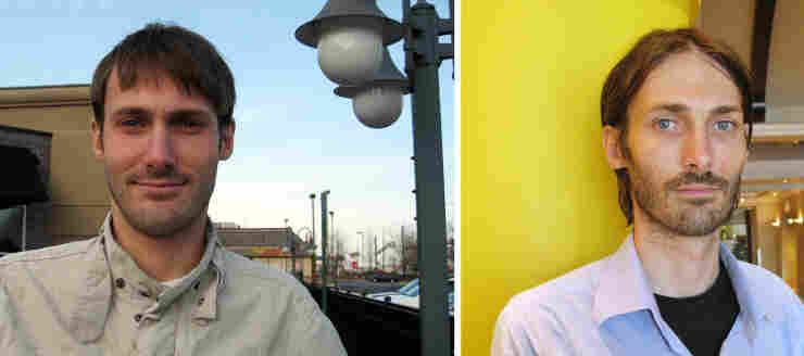 Matthew VanDyke, a freelance journalist from Baltimore, was held in solitary confinement in Libya for five months before he was freed last week. At left, VanDyke is seen in February, before he went to Libya; at right, after his release.