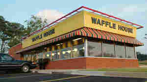 If the lights are still out, that's bad news. A Waffle House restaurant in Atlanta. (2006 photo.)