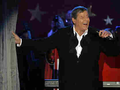 In happier times, Jerry Lewis performs during the MDA telethon on Labor Day in 2005.