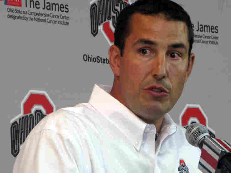 New Ohio State head football coach Luke Fickell at an Aug. 30 press conference.