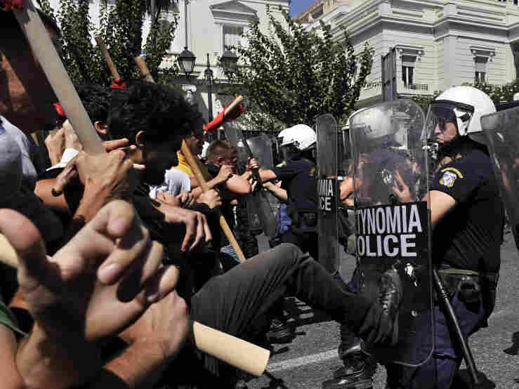 Greek protest. Aug. 24, 2011.