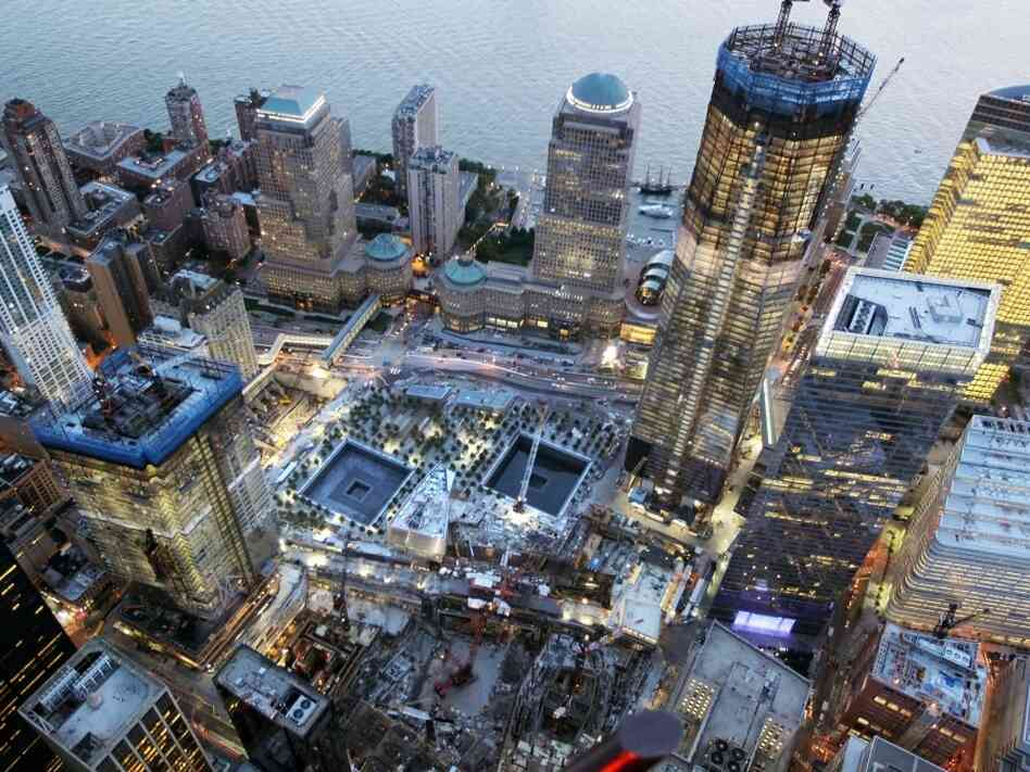 Construction continues at One World Trade Center.
