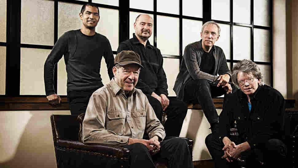 Composer Steve Reich (seated left) and the Kronos Quartet.