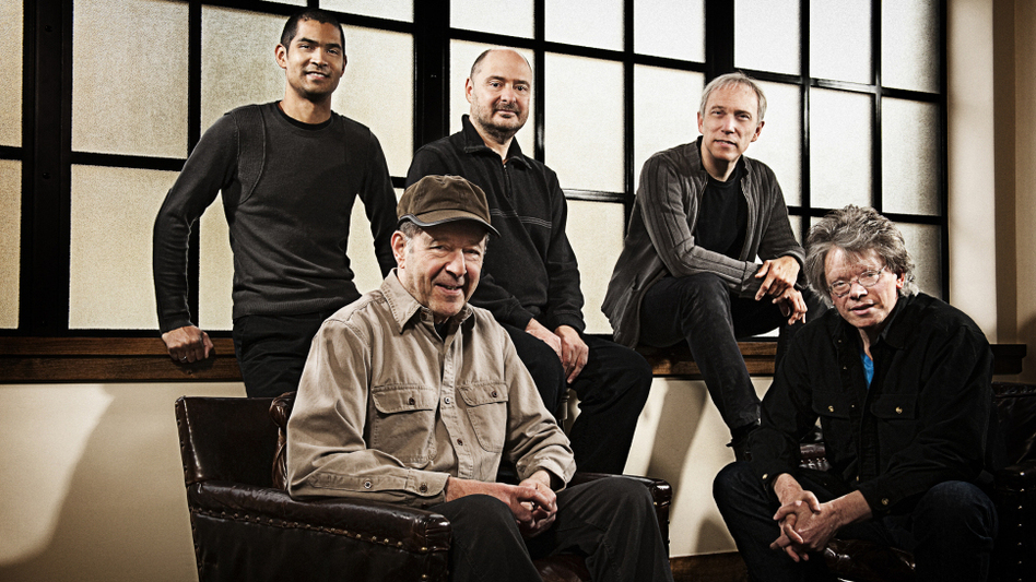 Composer Steve Reich (seated left) and the Kronos Quartet. (Jay Blakesberg)