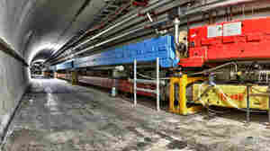 A view inside the Tevatron ring, currently in its final days as a particle superhighway.