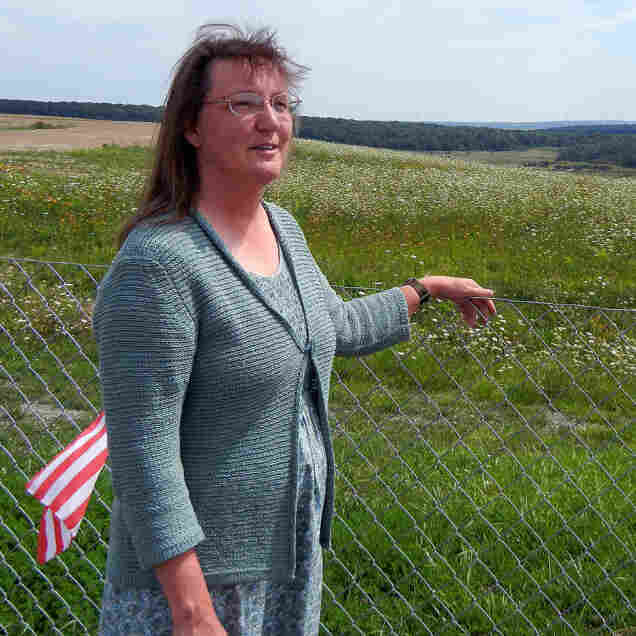 """Donna Glessner, a volunteer with Friends of Flight 93, says the memorial is a """"landscape memorial,"""" meaning that the crash site itself is the memorial to those that died when United Flight 93 crashed on Sept. 11, 2001."""