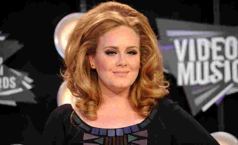 Adele at the MTV Video Music Awards in August.