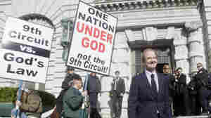 Co-lead counsel of the legal team challenging California's same-sex marriage ban, David Boies, right, walks past opponents of same-sex marriage as he leaves after a hearing in the Ninth Circuit Court of Appeals on Dec. 6, 2010, in San Francisco. A trial court judge overturned the measure as a violation of gay Californians' civil rights in August.