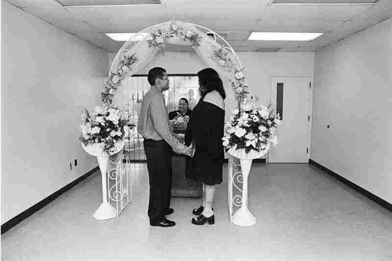 BooBoo and Dreamer get married in a registry office, 2002