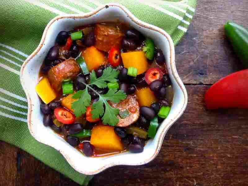 Black Bean, Sausage And Butternut Squash Chili
