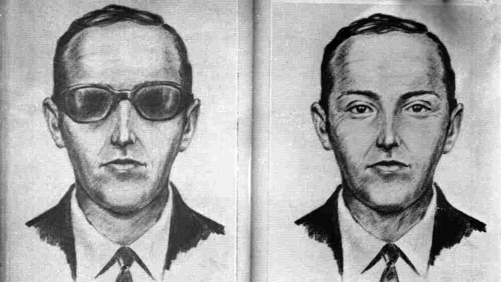 "A 1971 artist's sketch released by the FBI shows the skyjacker known as ""Dan Cooper"" and ""D.B. Cooper."" The sketch was made from the recollections of passengers and crew of a Northwest Orient Airlines jet he hijacked between Portland, Ore., and Seattle."