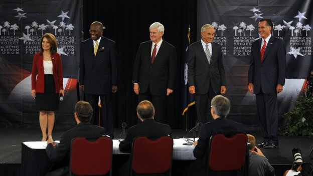 GOP presidential candidates in South Carolina Monday.