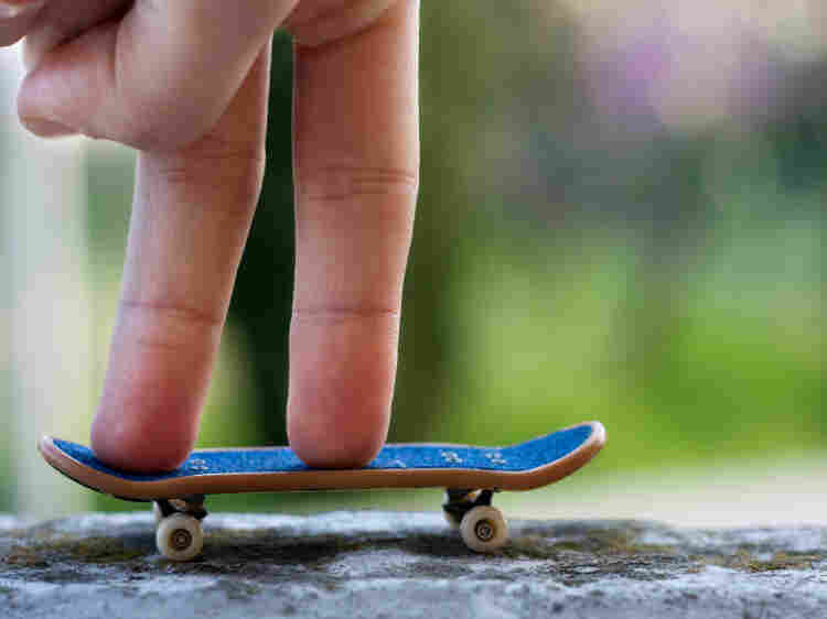 "Fingerboarding is a miniature version of skateboarding — competitors use tiny skateboards and ""skate"" with their fingers. Fifteen people qualified for the national championship event held in New York City this weekend."