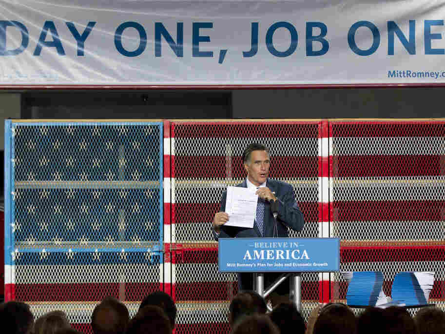 Mitt Romney talks jobs.