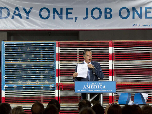 Mitt Romney talks jobs.