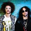 """LMFAO (Redfoo on the left, SkyBlu on the right), so named because the response of SkyBlu's grandmother to their original name, Sexy Dudes, was, """"LMFAO. Are you serious?"""""""