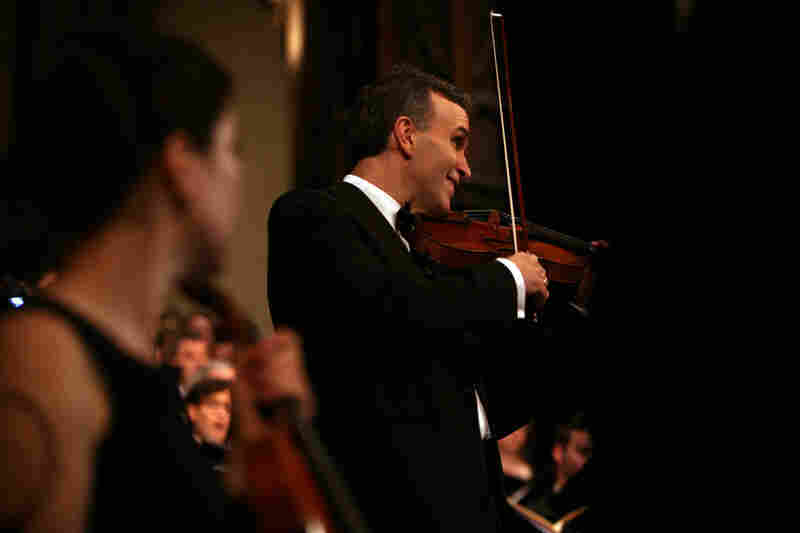 "Violinist Gil Shaham performs during ""Remember to Love: Let Us Love One Another With A Sincere Heart."""