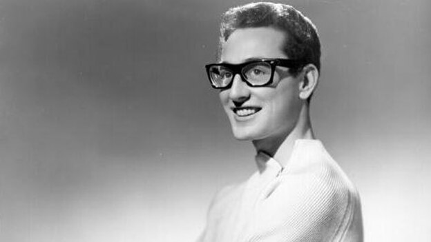 Listen to Me features tributes from Buddy Holly's generation — Brian Wilson, Ringo Starr — and younger artists such as Zooey Deschanel. (Getty Images)