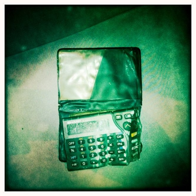 A calculator recovered from an office in the Pentagon