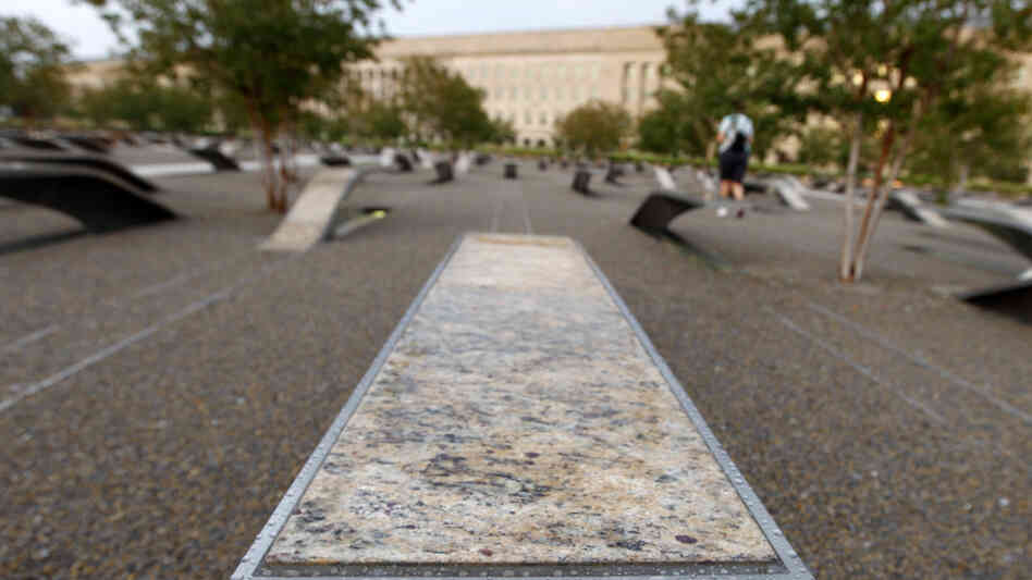 Outside the Pentagon, 184 benches are part of the memorial honoring those killed there on Sept. 11, 2001.