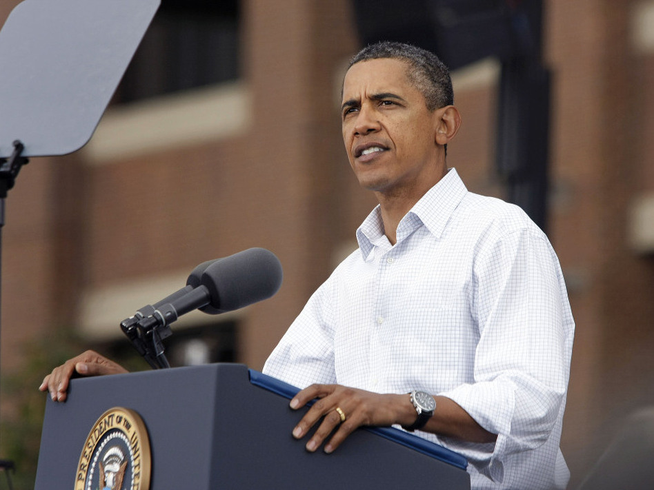 President Obama on Labor Day in Detroit. (Bill Pugliano/Getty Images)