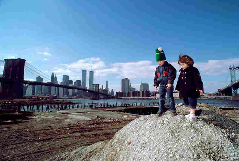 View from the foot of the Manhattan Bridge, Brooklyn, 1986