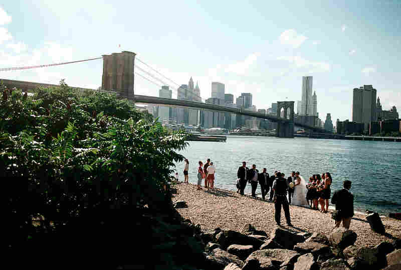 View from the foot of the Manhattan Bridge, Brooklyn, 2010