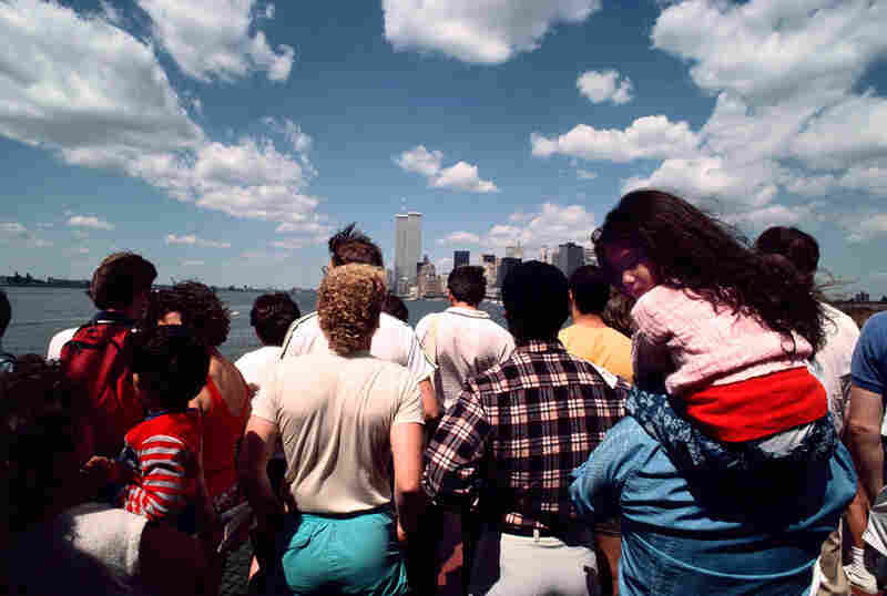 View of the World Trade Center from the Staten Island Ferry, 1986