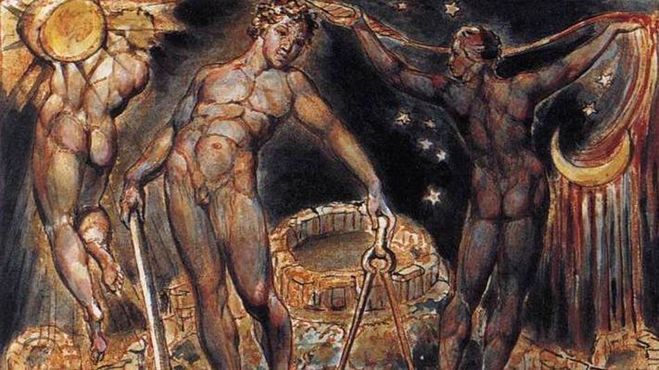 William Blake's 'Los,' from the poet and artist's mythological work. Ned Rorem sets words from Blake's 'Proverbs of Hell' within his song cycle 'Aftermath.' (Wikimedia)
