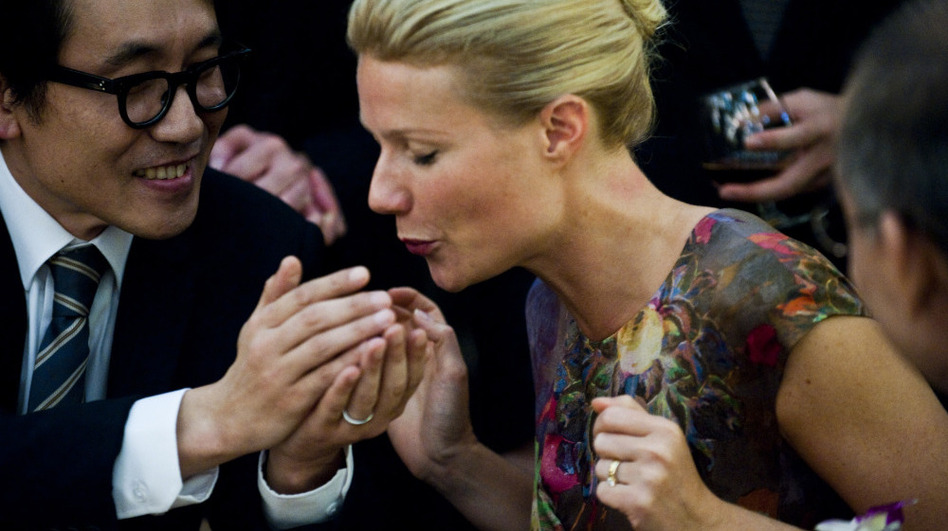 <strong>First Contact?</strong> On a business trip to Hong Kong, Beth Emhoff (Gwyneth Paltrow) picks up more than just a few souvenirs.