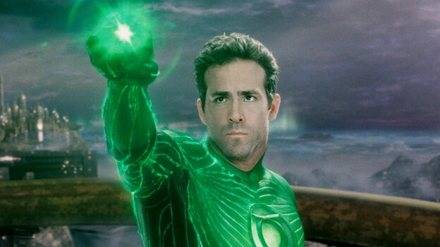 Ryan Reynolds in Green Lantern.