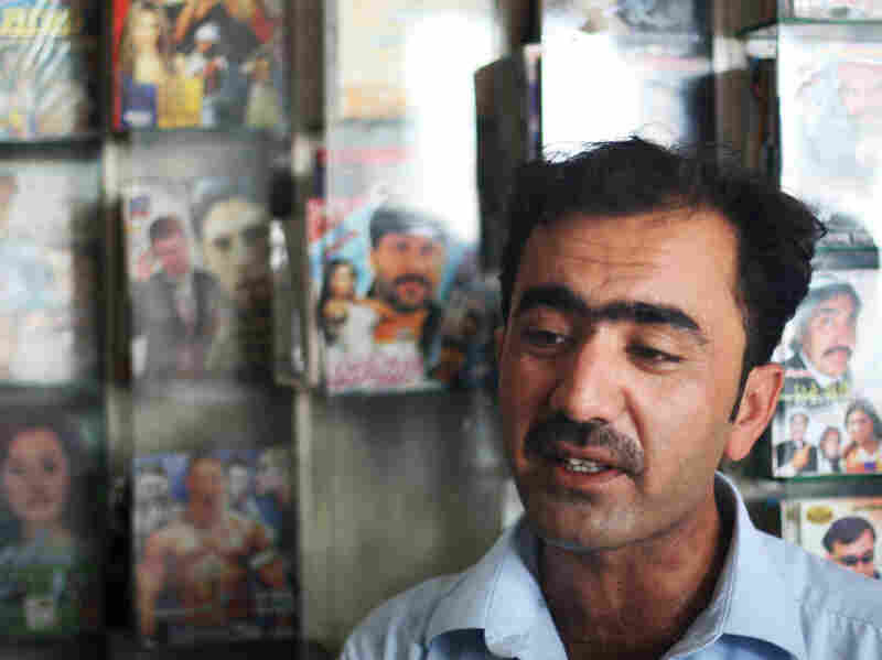 Abdul Ghani owns a music store in Jalalabad and says that many stores like  his have been bombed in the past year, while others have been forced to shut down.
