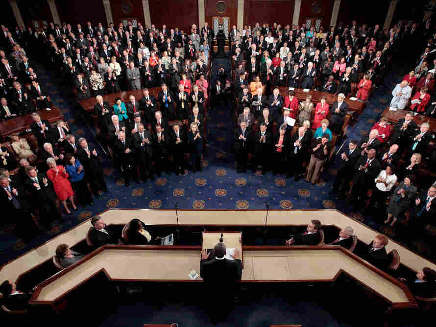 President Obama outlines his jobs plan to a joint session of Congress, September 8, 2011.