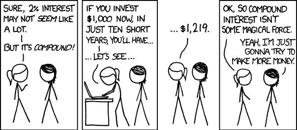 XKCD on Compound Interest