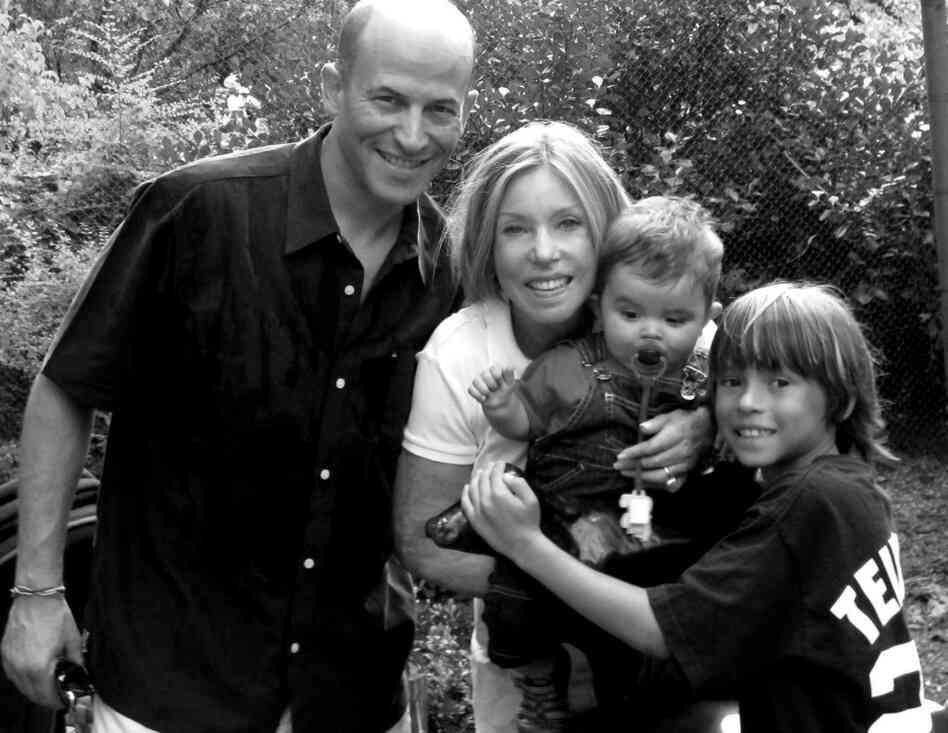 Lauren and Greg Manning stand with their sons Jagger and Tyler (right) at the Central Park Zoo in 2010. Manning became a symbol of survival after the Sept. 11 attacks, where she suffered burns on more than 80 percent of her body.
