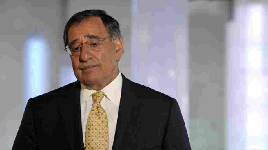 Defense Secretary Leon Panetta speaks to reporters after touring the National September 11 Memorial & Museum in New York  City last week.