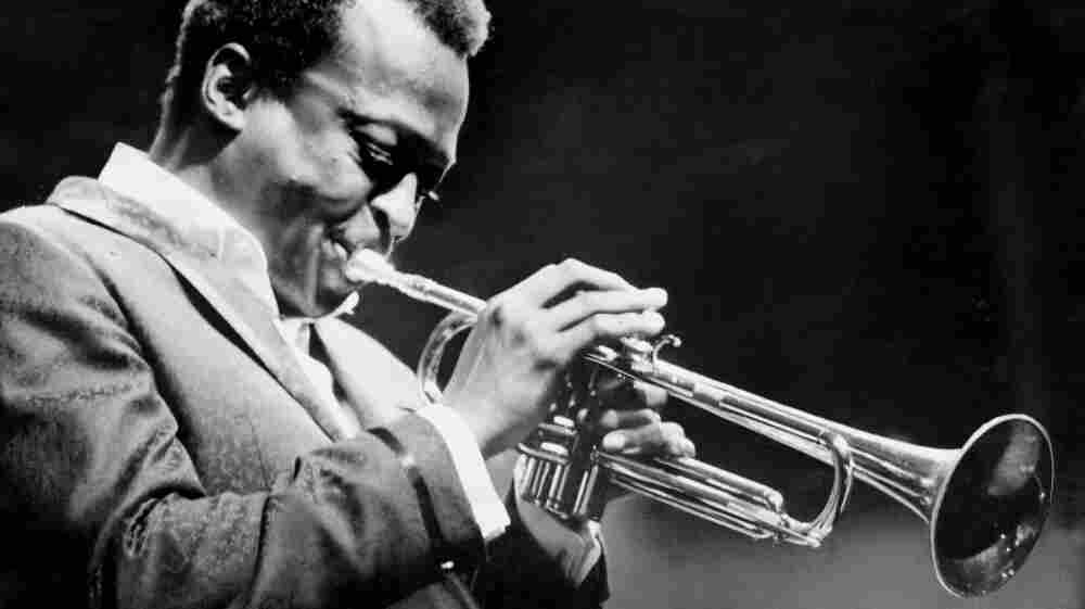 Miles Davis performs at the 1967 Newport Jazz Festival.