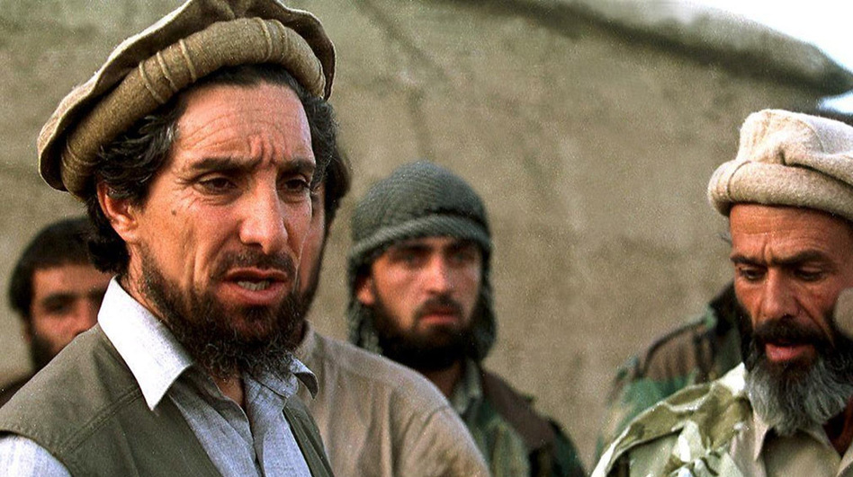 "Shown here in 1997, the ""Lion of the Panjshir,"" Ahmad Shah Massoud (left), fought against the Soviets in the 1980s, was a central figure in the Afghan civil war of the '90s and led the resistance against the Taliban until his death on Sept. 9, 2001, the victim of al-Qaida suicide bombers. (AFP/Getty Images)"