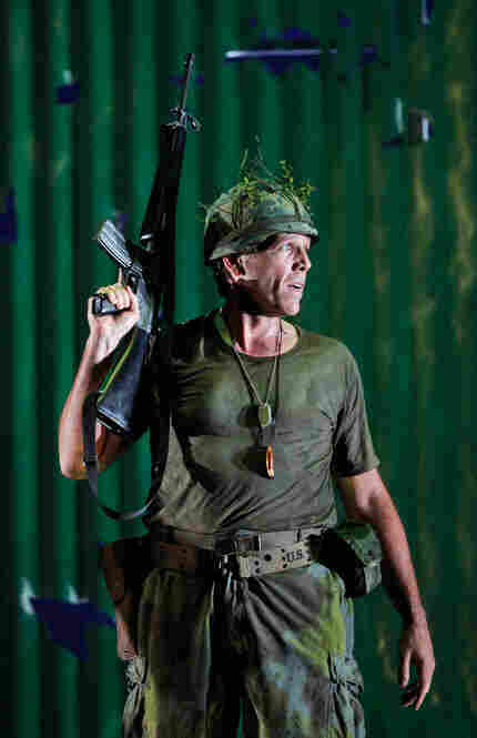 Thomas Hampson as Rick Rescorla, on the battle lines in Vietnam.