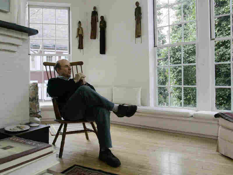 Calvin Trillin, in his Greenwich Village townhouse in 2006.