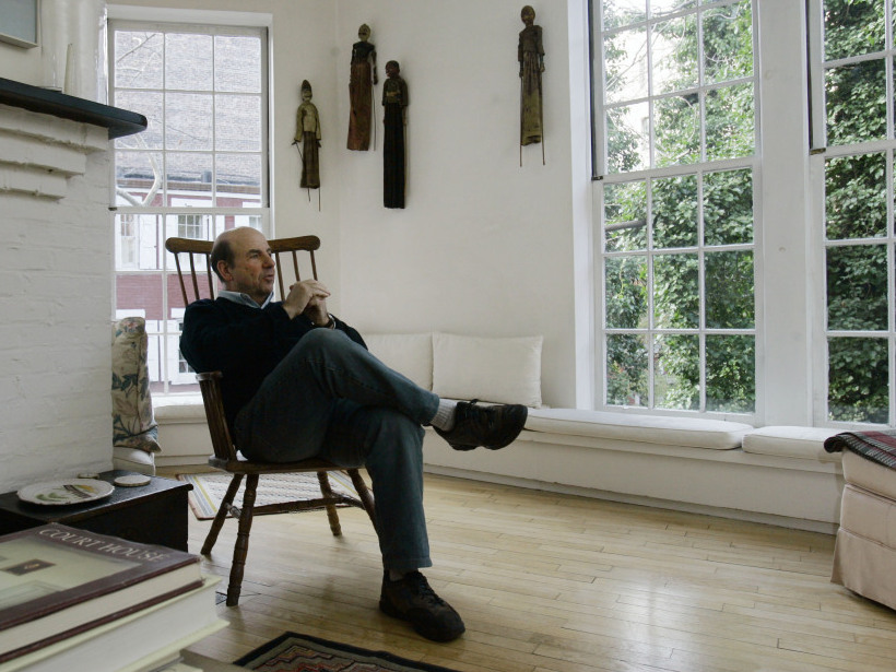 Calvin Trillin, in his Greenwich Village townhouse in 2006.