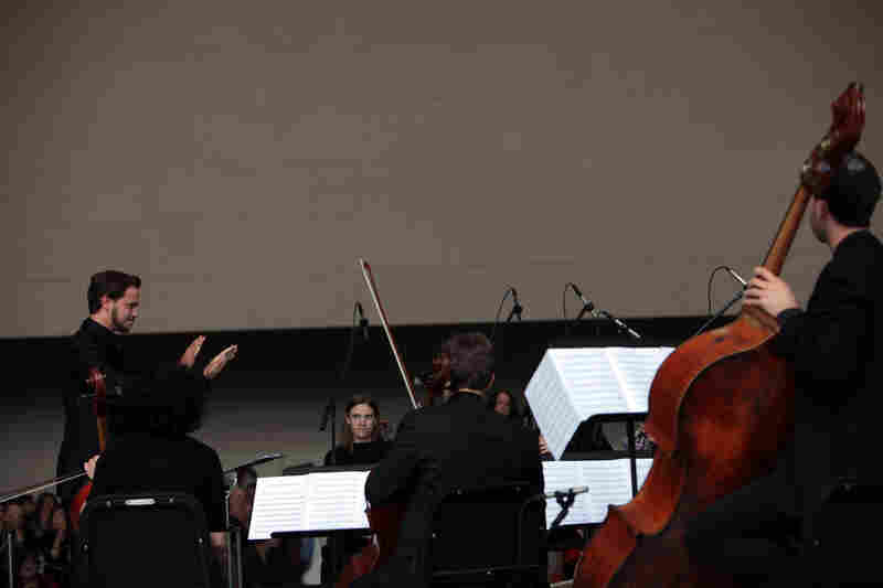 Remembering September 11, Wordless Music Orchestra conducted by Ryan McAdams presented at The Temple of Dendur in The Sackler Wing at The Metropolitan Museum of Art in Manhattan, NY on September 11, 2011.