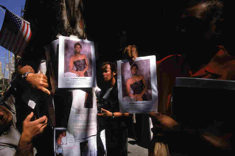 Posters showing missing persons on the days following the terrorist attack on the World Trade Center.