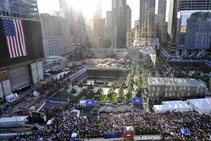 A view of the 9/11 Memorial early Sunday.