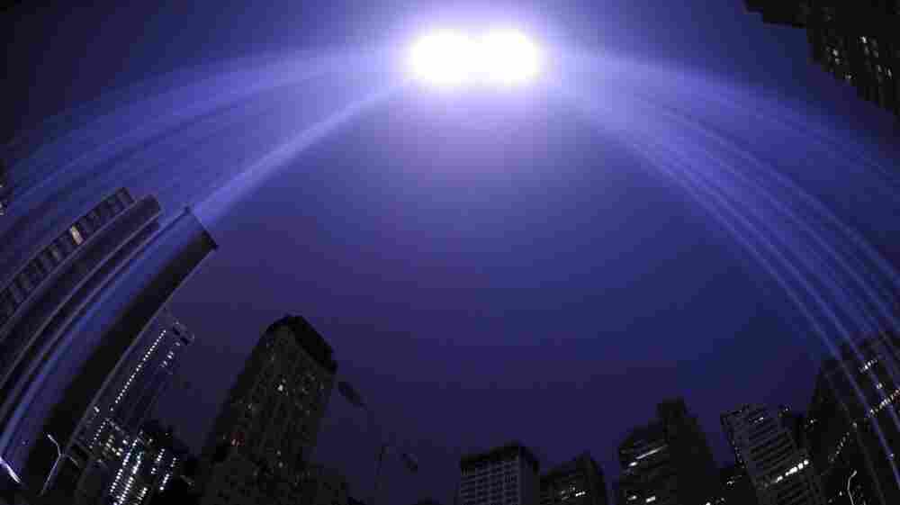 "The ""Tribute in Light"" illuminates the sky  in New York on the 10th anniversary of the Sept. 11 attacks."