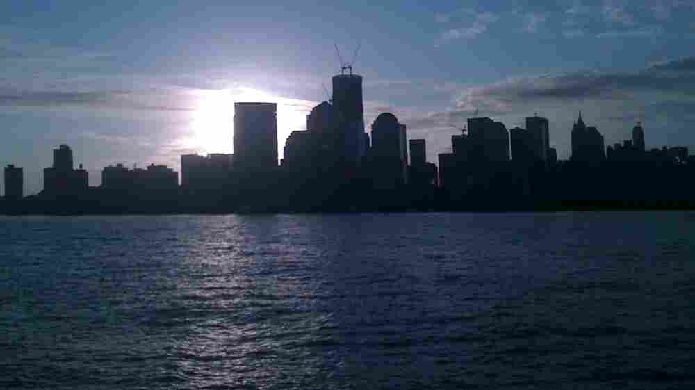 From New Jersey early today, the view across the Hudson River to the World Trade Center.