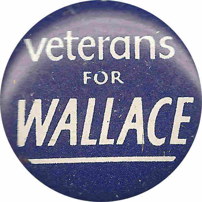 Veterans for Wallace button