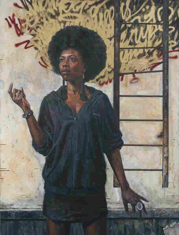 """Tim Okamura's painting """"The Ascension"""" is a part of his new exhibit """"Brooklyn Bronx Queens."""""""